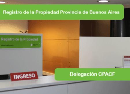 REGISTRO DE LA PROPIEDAD DE LA PROVINCIA DE BUENOS AIRES